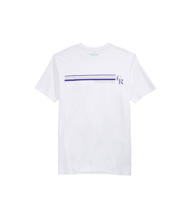 Colorado Rockies 3 Stripe Tee