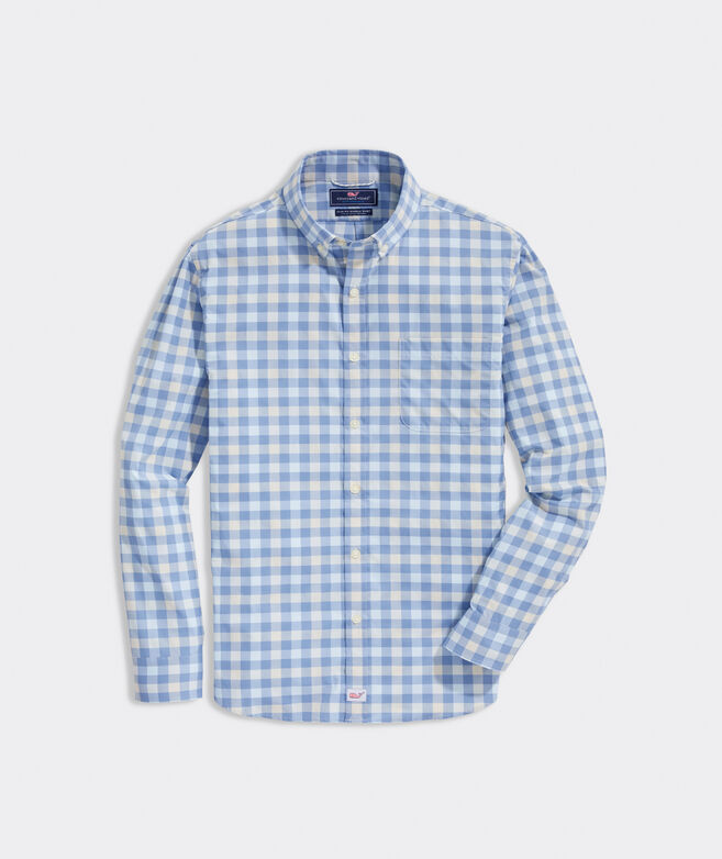 Slim Fit Norton On-The-Go Performance Murray Button-Down Shirt
