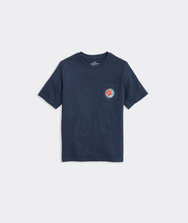 Boys Football Short-Sleeve Pocket Tee