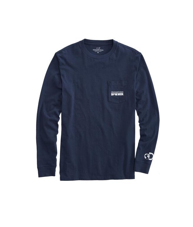 Mens Shark Week Long-Sleeve Logo T-Shirt