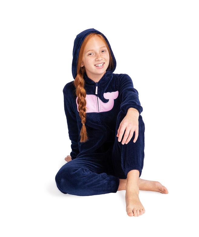 Kids One-Piece Fuzzy Jumpsuit