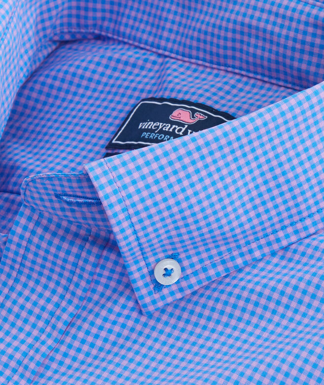 Whale Cay Micro Gingham Performance Classic Murray Shirt