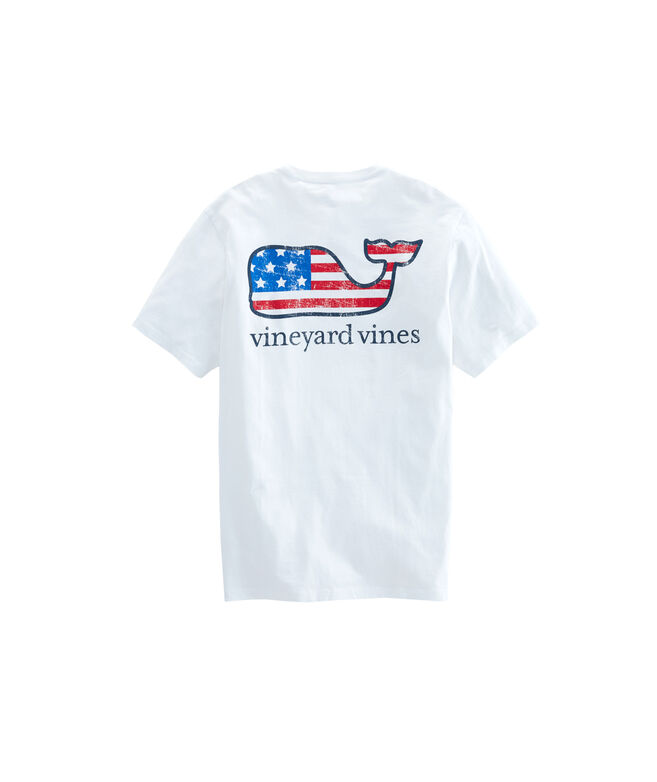 Flag Whale Short-Sleeve Pocket Tee