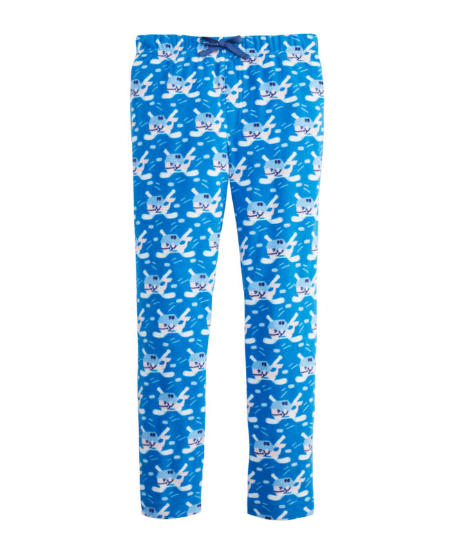 Boys' Whale Fleece Pajama Pants