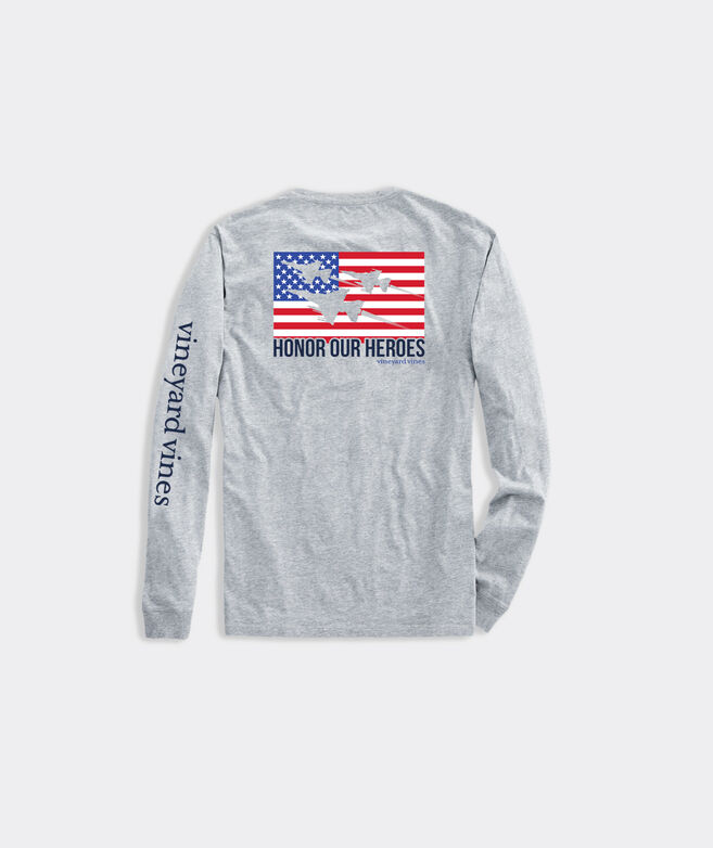Limited-Edition USA Flyover Long-Sleeve Pocket Tee