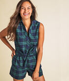 Vineyard Blackwatch Taffeta Romper