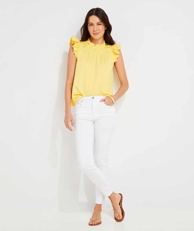 Ruffle Sleeve Swing Top