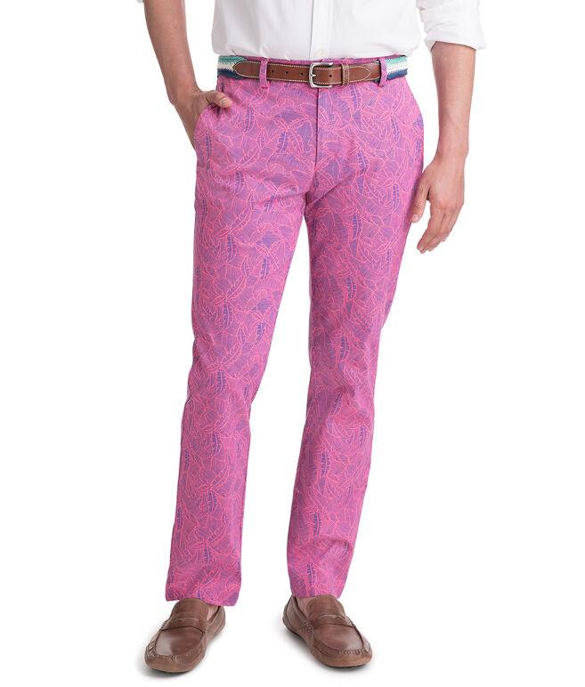 Linear Tropics Print Breaker Pants