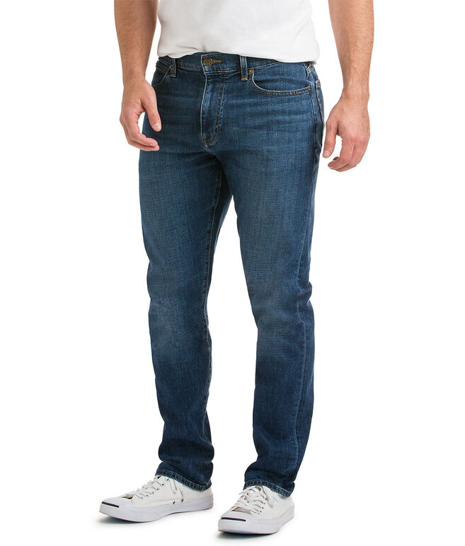 Straight-Leg Denim, Medium Wash
