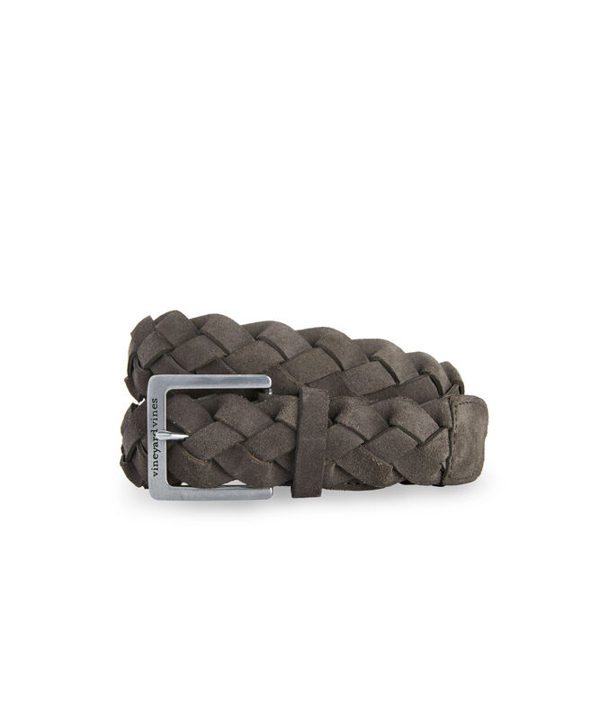 Braided Wide Suede Belt