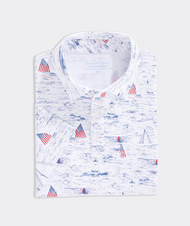 Printed Edgartown Polo