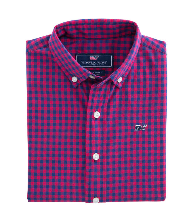 Bentley Gingham Whale Shirt