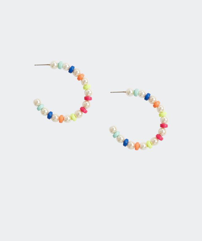 Boca Pearl Hoop Earrings