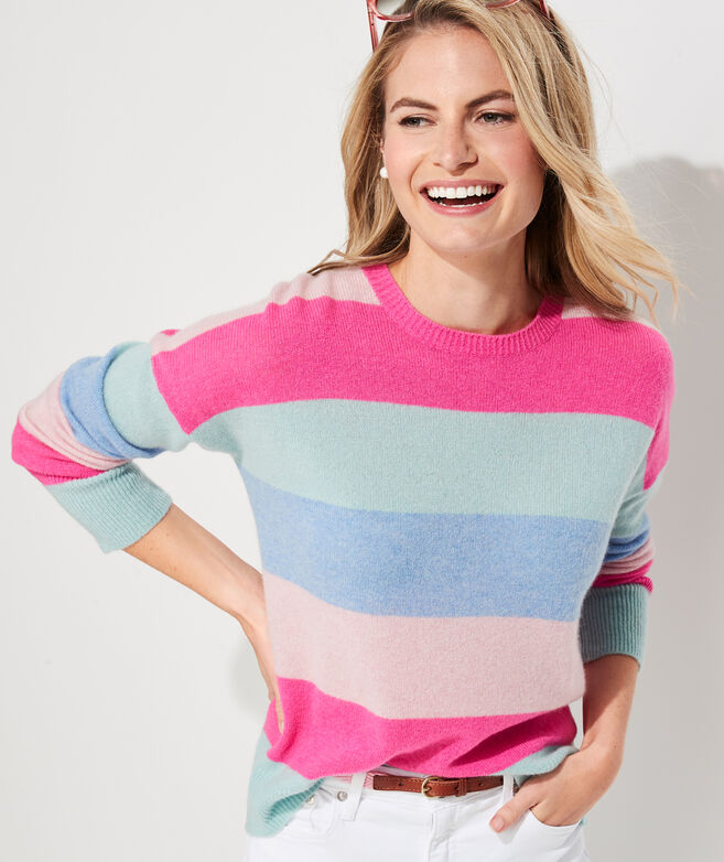 Lofty Cashmere Multi Stripe Sweater