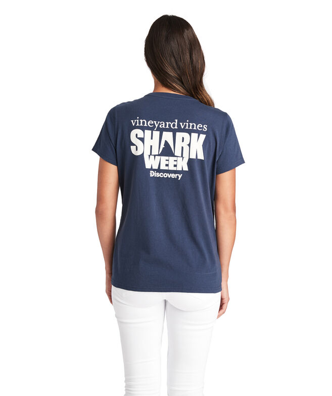 Discovery Shark Week Logo Pocket Tee