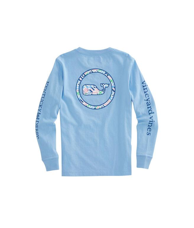 Boys Long-Sleeve Kentucky Derby Patchwork Tie Whale Dot Pocket T-Shirt
