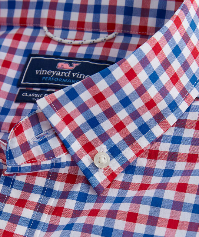 Big & Tall Classic Fit Grouper On The Go Performance Tucker Button-Down Shirt