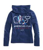 Girls America's Cup Logo Hoodie Pocket Tee