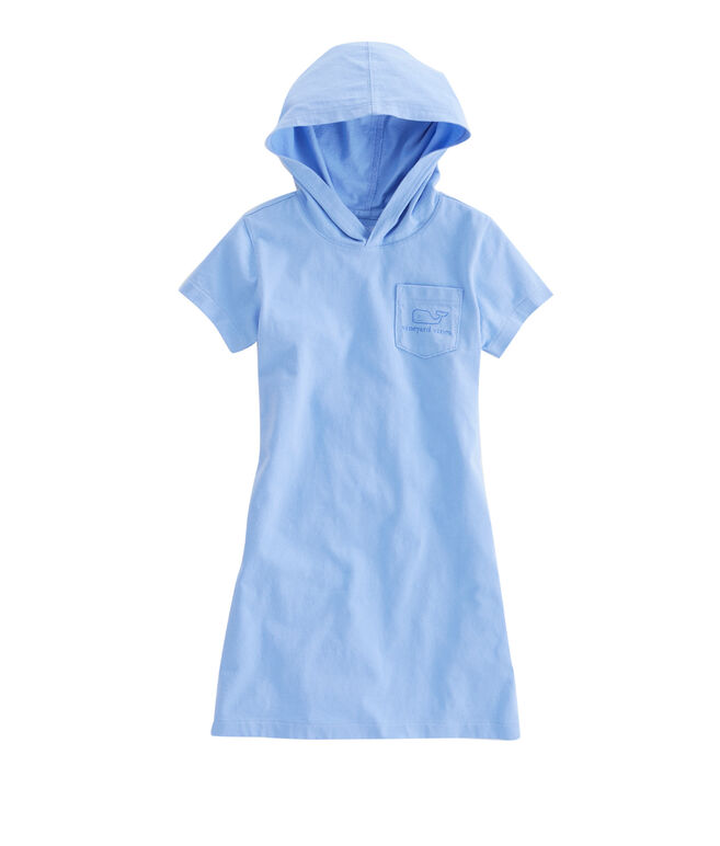 Girls Whale Hoodie Tee Dress