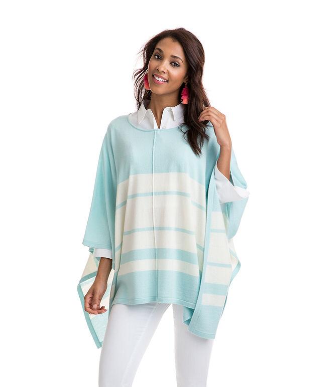 Striped Sweater Poncho
