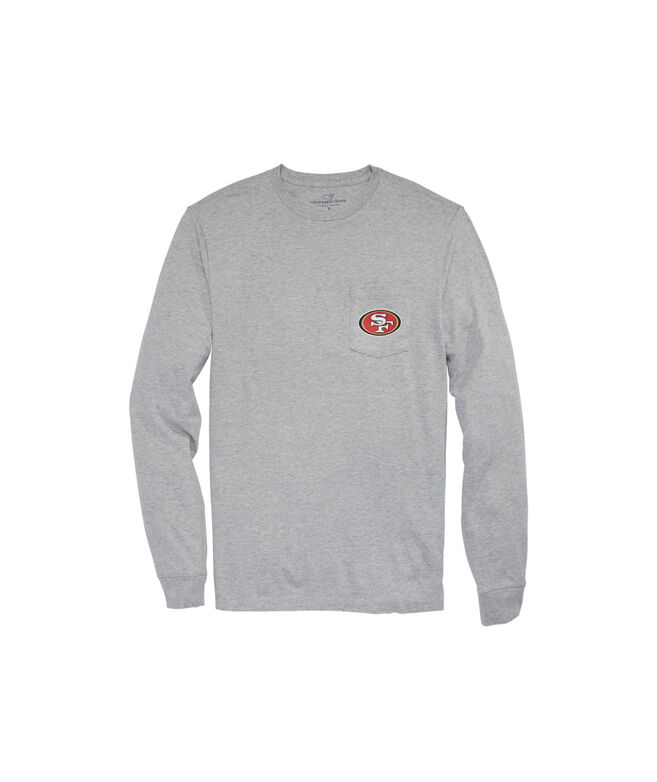 San Francisco 49ers Long-Sleeve Block Stripe Tee