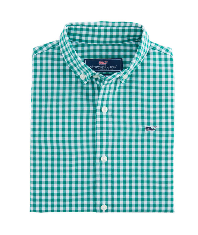 Boys Rockridge Poplin Whale Shirt