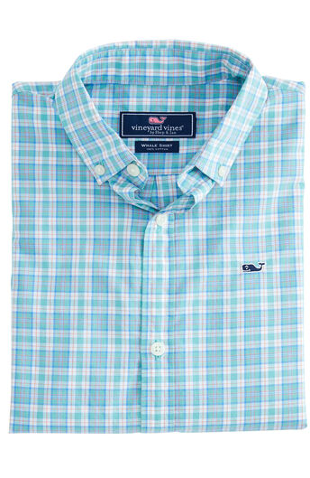 123afedfc4ed5d Boys Mini Tartan Whale Shirt