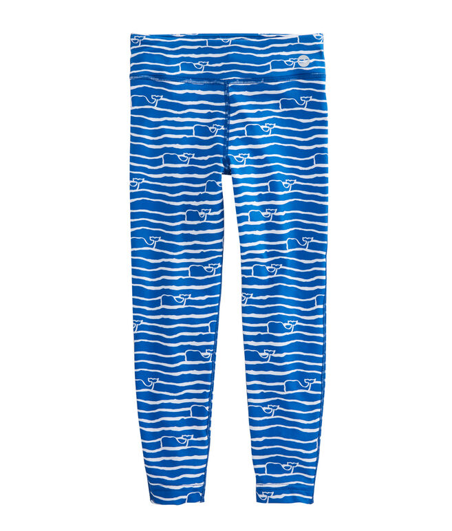 Girls Whale Wave Performance Leggings