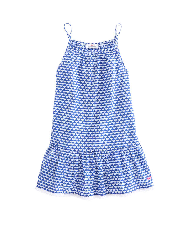 Girls Simple Whale Tail Dress