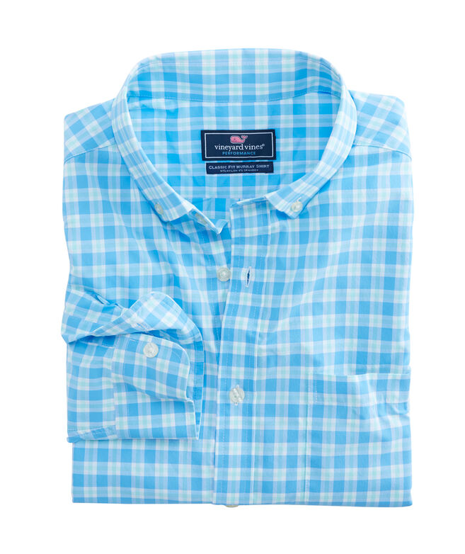 Ocean Beach Check Performance Classic Murray Shirt