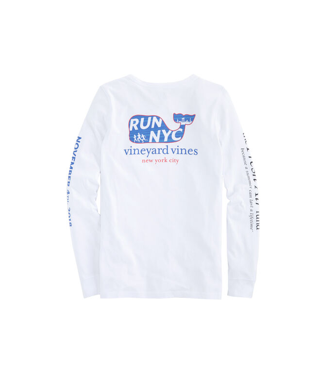 Womens Long-Sleeve 2018 NYC Run Marathon T-Shirt