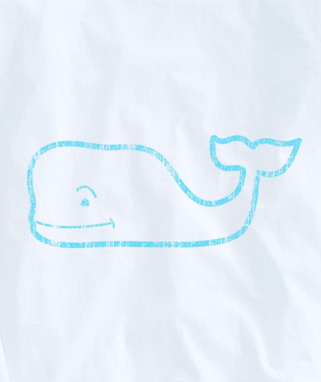 Adult Glow-In-The-Dark Vintage Whale Long-Sleeve Pocket Tee