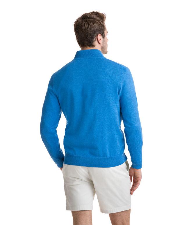 1/4-Zip Mock Neck Sweater