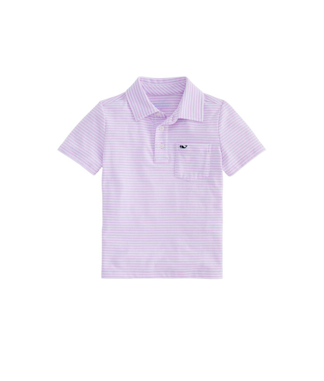 Boys Vineyard Stripe Edgartown Short-Sleeve Polo