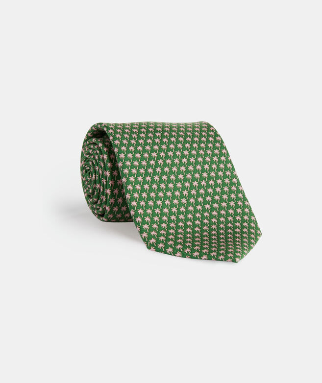 Micro Palm Trees Printed Tie