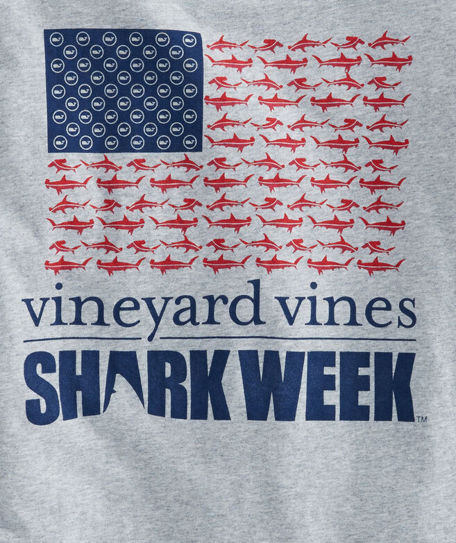 Mens Shark Week Sharks & Stripes T-Shirt