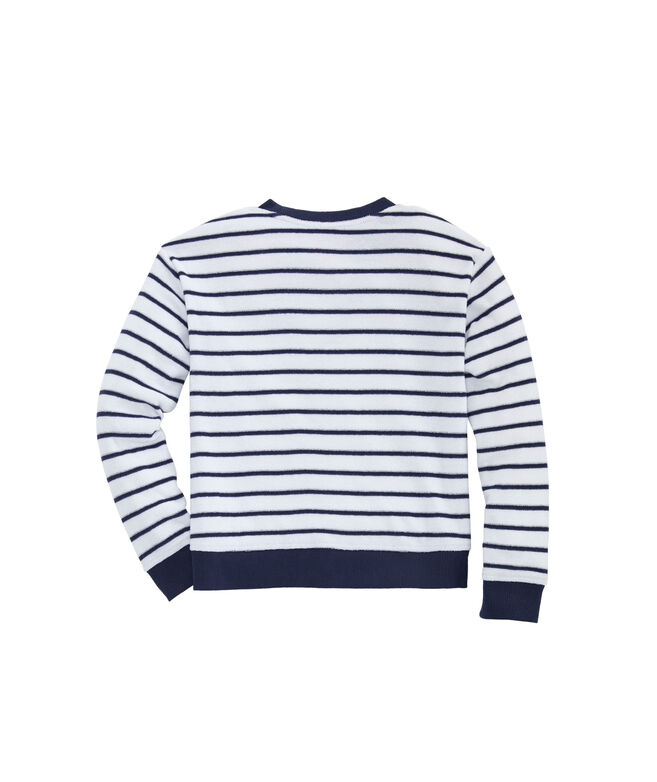 Girls' Break Stripe Hi-Lo Crewneck Pullover
