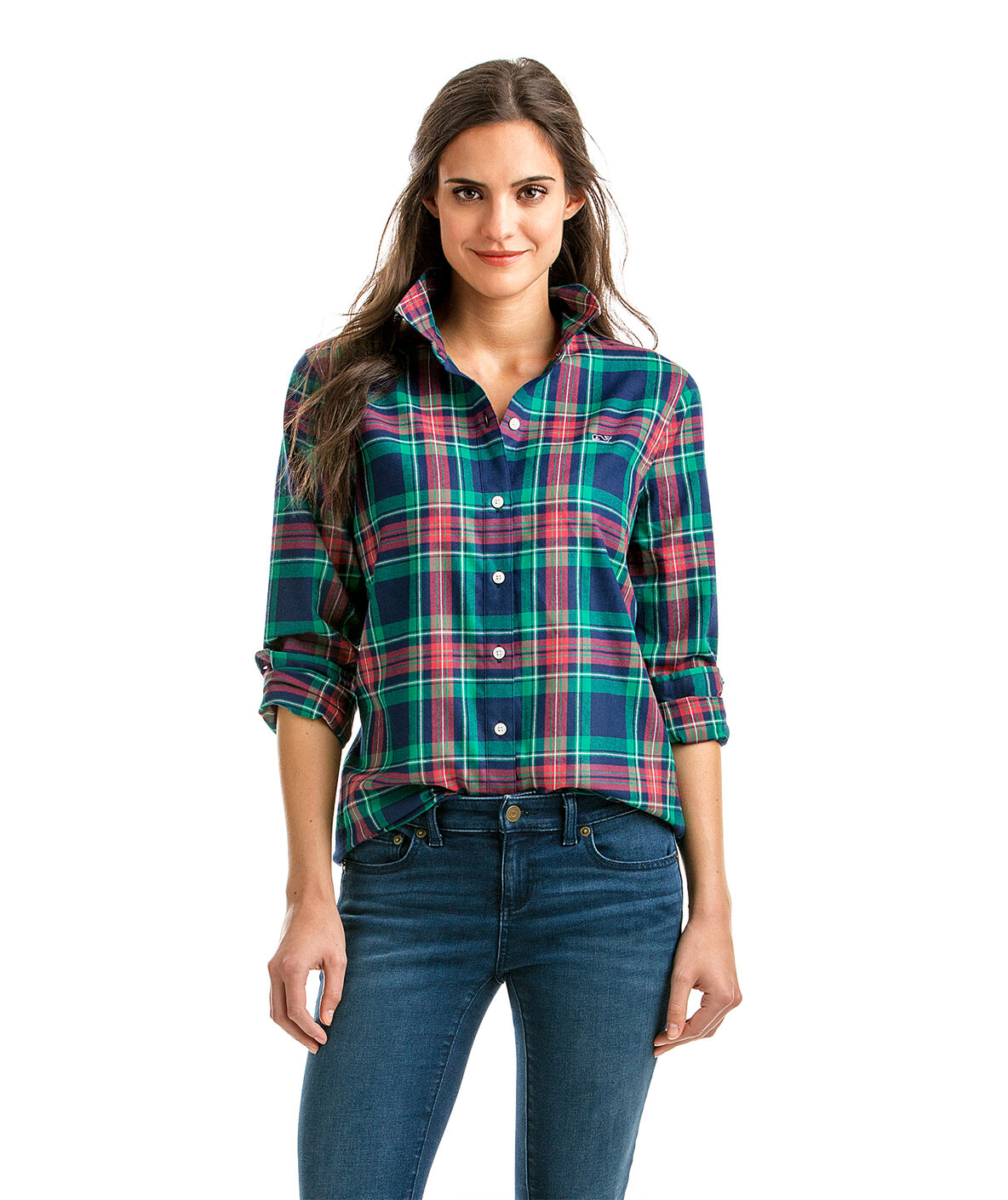 Shop Snowflake Performance Plaid Relaxed Button Down At