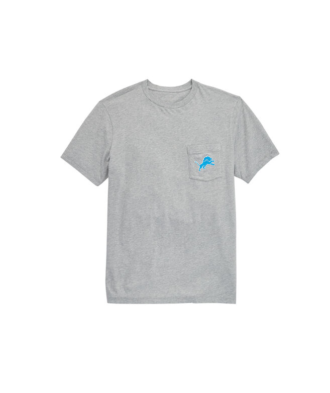 Detroit Lions Block Stripe Tee