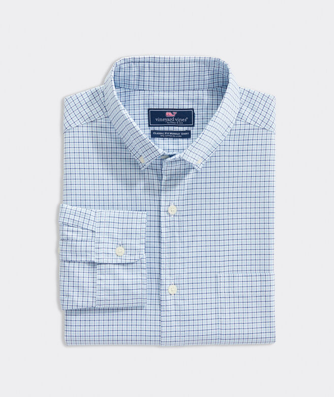 Classic Fit Tattersall Pinpoint Oxford Murray Shirt