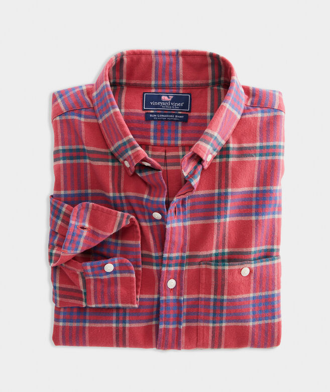 Slim Fit Halyard Flannel Longshore Button-Down Shirt