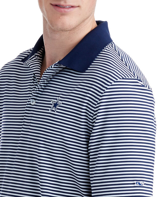 Shop Dallas Cowboys Porter Stripe Polo at vineyard vines b44867ded