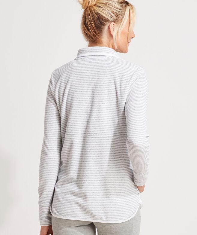Terry-Towel Snap-Placket Shep Shirt