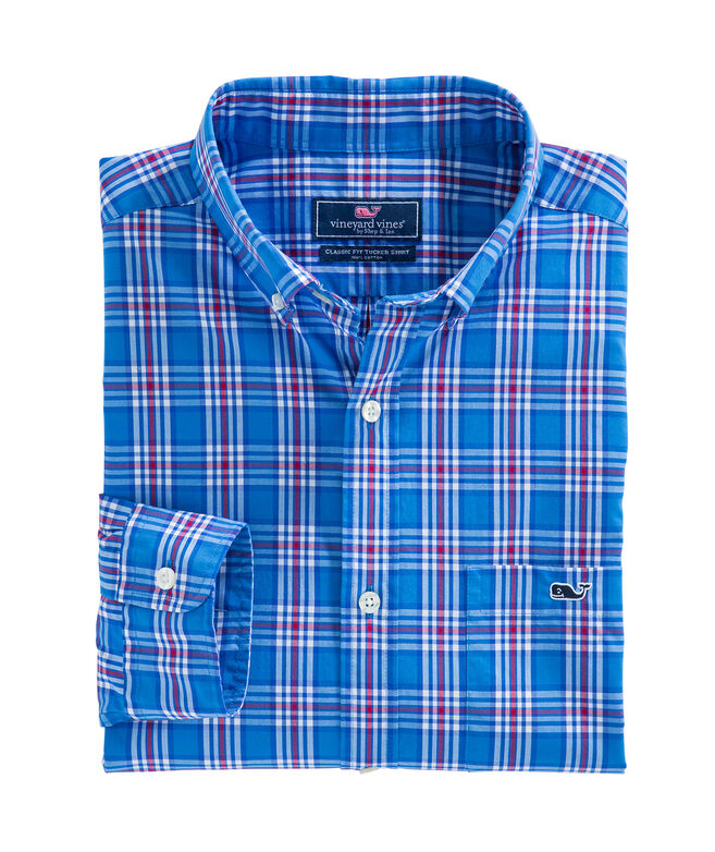 Chandler Pond Plaid Classic Tucker Shirt