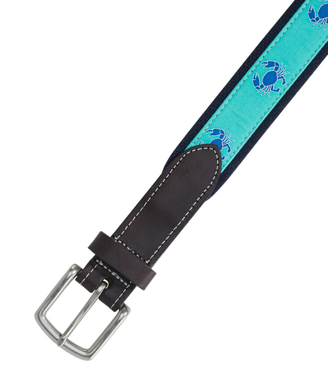 Crab Icon Canvas Club Belt