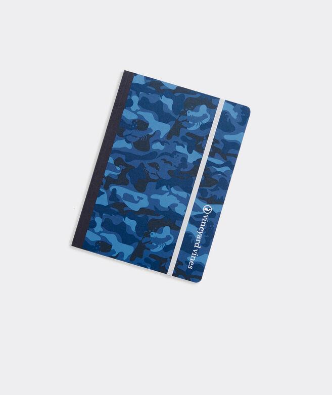 Blue Camo Notebook