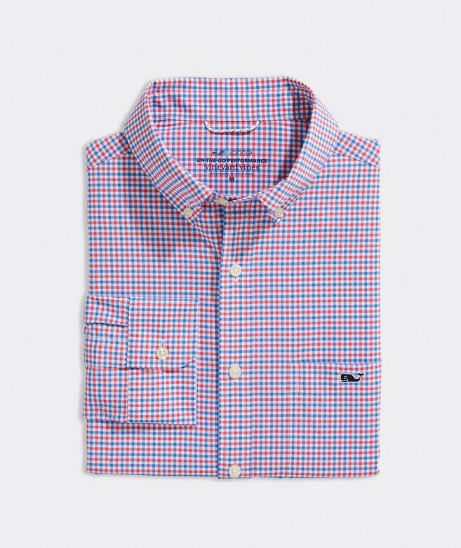 On-The-Go Nylon Tattersall Shirt