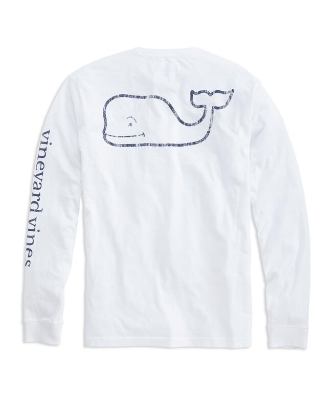 Shop long sleeve vintage whale graphic pocket t shirt at for Retro long sleeve t shirts