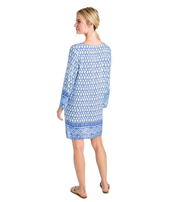 Shell Print Tunic Cover-Up