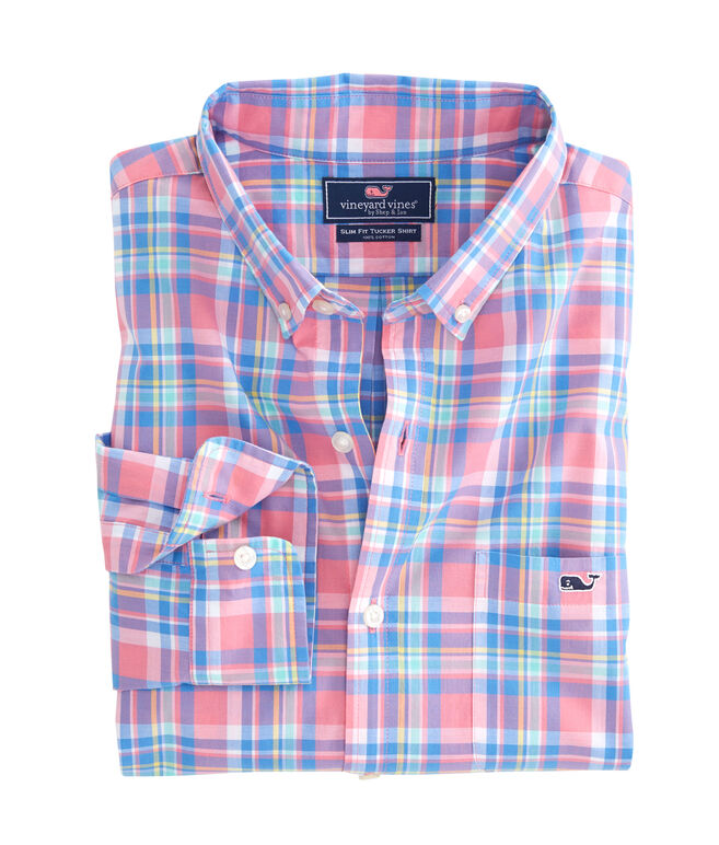 Cape Haze Plaid Slim Tucker Shirt